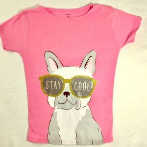 ♥️ Carter's 10 Girls Stay Cool Dog Pink Tee